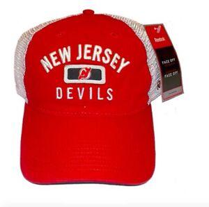 Reebok-New-Jersey-Devils-Hat-Slouch-Mesh-Adjustable-Snapback-Cap