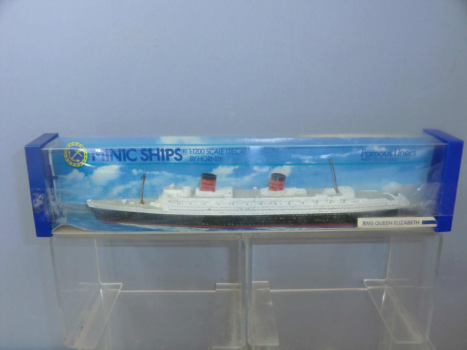 marcas en línea venta barata Hornby Triang Minic Ships Modelo No.M702 RMS Queen Elizabeth Elizabeth Elizabeth MIB  preferente