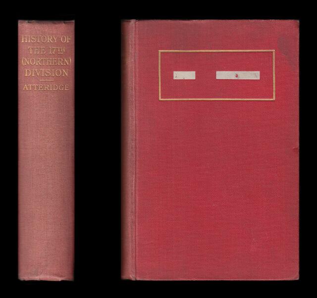 Atteridge, Geschichte der 17TH (nördlichen) Division 1914-1918 - SOMME ARRAS Ypern