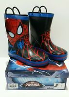 Toddler Boys Size 7 Marvel Spiderman Rain Boots With Tags