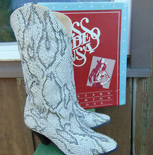 Ladies Western Boots ACME Miss Rodeo USA Original box Size 7 Faux Python Reptile