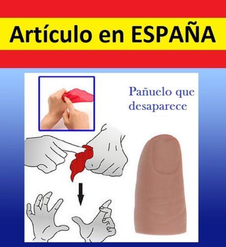 TRUCO MAGIA PAÑUELO rojo DESAPARECE dedo mago jueguete juego fiestas niños magic