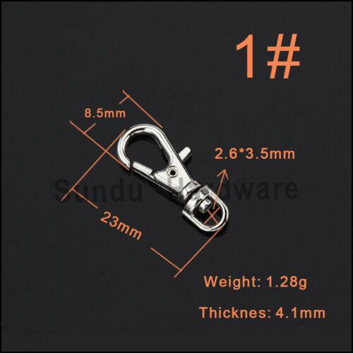 Karabiner mit Schlüsselring Wirbel Haken Karabinerhaken Nickel 4 Farbe