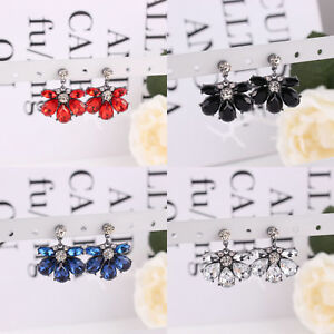 1-Pair-Fashion-Women-Crystal-Resin-Flower-Drop-Ear-Stud-Dangle-Earrings-Jewelry