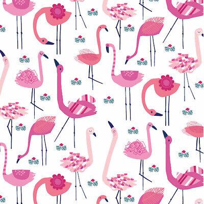 Flamingos from Dashwood studios/' /'Ocean Drive/' 100/% cotton fabric