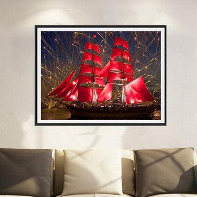 Sunset Sailboat Full Drill DIY 5D Diamond Painting Kit Home Decor 40*30cm