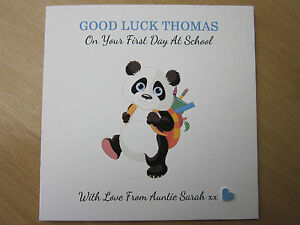 Personalised handmade boys good luck on first day of school or new image is loading personalised handmade boy 039 s good luck on m4hsunfo