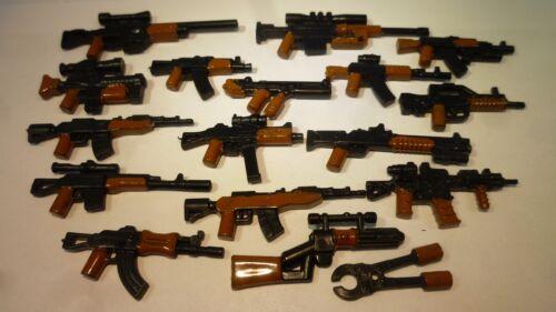 17x Custom Waffen für Lego Star Wars City MG Drahtschere AK-47 Modern WW II