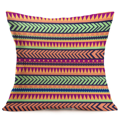 """16/"""" 18/"""" Pillow Case Cotton Linen Throw Bed Sofa Waist Cushion Cover Home Decor"""