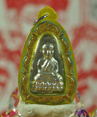 Real Leklai Watcharatad Sacred Talisman by LP Somphon Thai Buddha Amulet Pendant
