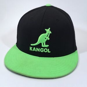 eb188dca KANGOL 210 Fitted by FLEXFIT 6 7/8 to 7 1/4 S/M Black Safety Green ...