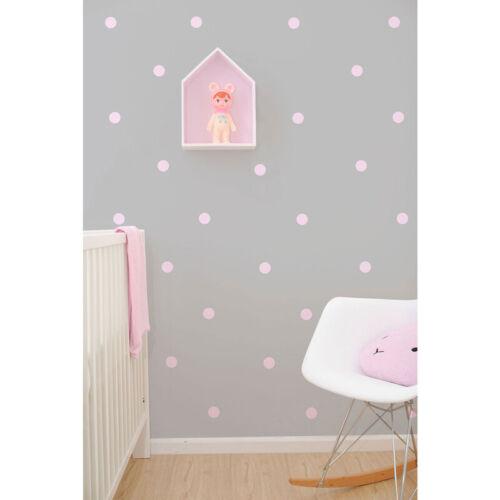 Kids Pink Dots Vinyl Wall Stickers