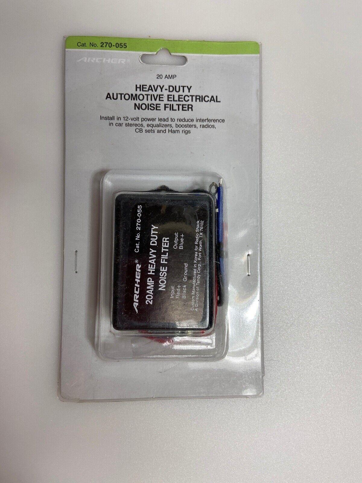 HEAVY DUTY 3 PIN STANDARD CB CORD 20 AMP INLINE FILTER W// 6/' 12 GA WORKMAN