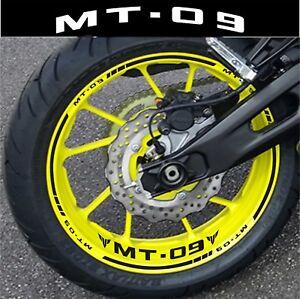 Details Zu Einfassung Felgen Mt09 Mt 09 Aufkleber Motorrad Satz Für 2 Felgen 40 Farben