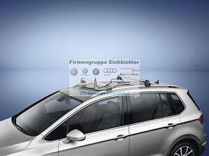 Dachtraeger-NEU-VW-Golf-Sportsvan-Tragstaebe-Original-Zubehoer-Traeger-510071151-A