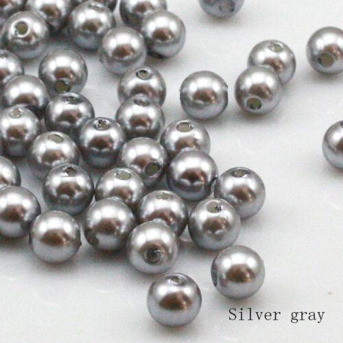 100 un 8mm alta calidad de plástico de perla redonda con cuentas de fabricación de joyas 16 Colores