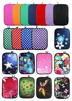 Neoprene Sleeve Zip Case Cover fits Tablets 9.7 - 10.1 Inch & Black Stylus