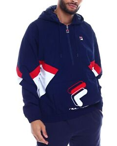 Details about Fila Resso 14 Zip Jacket PeacoatWhiteChinese Red