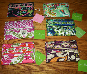 Vera-Bradley-EURO-WALLET-mini-small-tri-fold-clutch-for-purse-tote-or-backpack