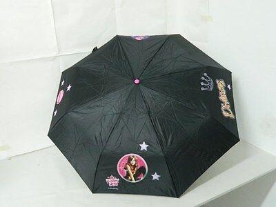Di Carattere Dolce Ombrello Pioggia Il Mondo Di Patty Bambina Ragazza Nero Con Stampe Colorate G12
