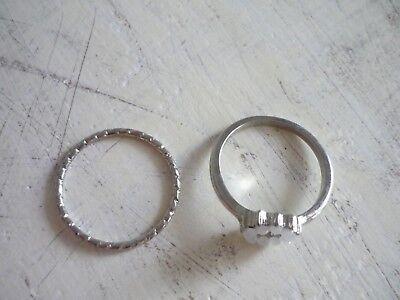 Clever 2 Ringe Fingerring Silber Primark Neu Ohne RüCkgabe