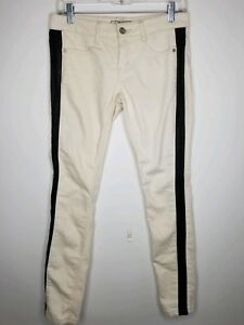color taglia 26 in Pantaloni Vegan People pelle avorio W Free Trim HYnwACgq