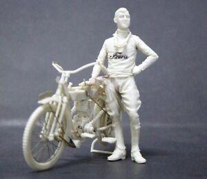 Cix-Models-1-35-Frera-4HP-1914-WWI-Motorcycle-Civilian-Version-w-Rider-CIXM015