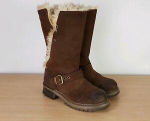 Low Heel Mid Calf Boots UK 3 Wide Width