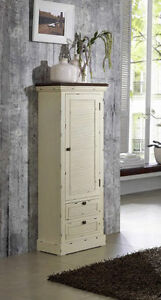 midischrank badschrank 44cm paulownia creme antik holz neu ovp ebay. Black Bedroom Furniture Sets. Home Design Ideas
