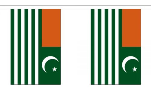 Polyester 3m 6m 9m Metre Length 10 20 30 Flags Kashmir Flag Bunting