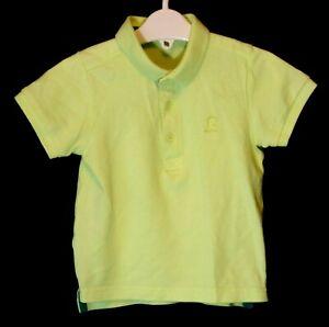 934c8fd0 Baby Boys Matalan Neon Lime Green Collared Polo Shirt Age 12-18 ...