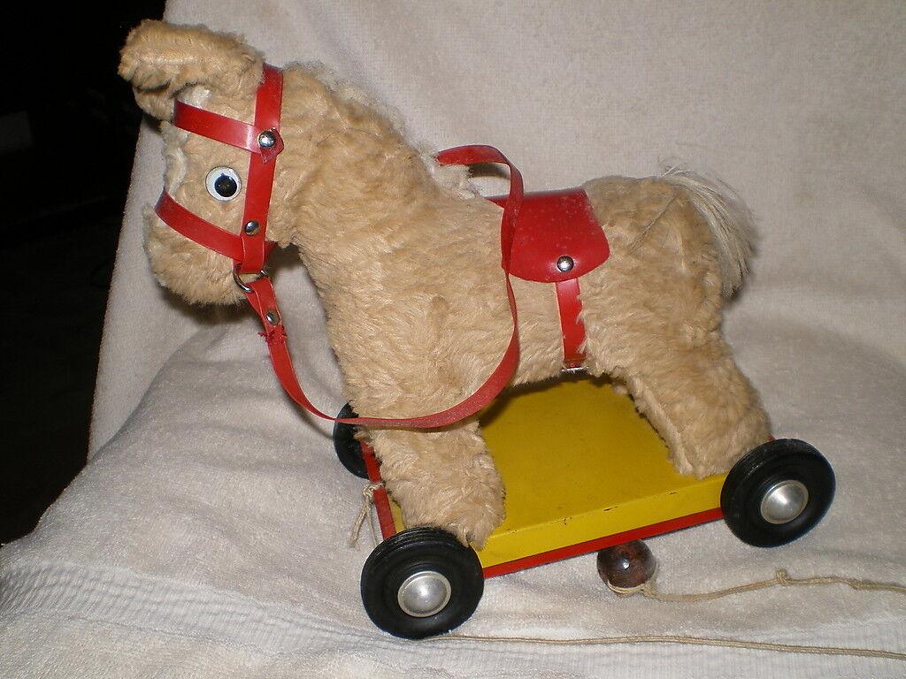 Pferd, vintage - spielzeug, drckte zinn - basis, kein macher mark