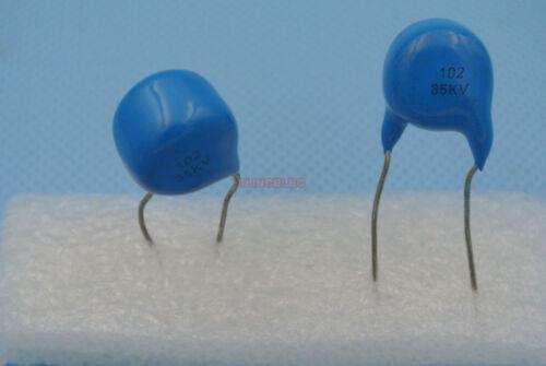 10pcs High Voltage Ceramic Disc Capacitors 102 1nF 35KV 35000V