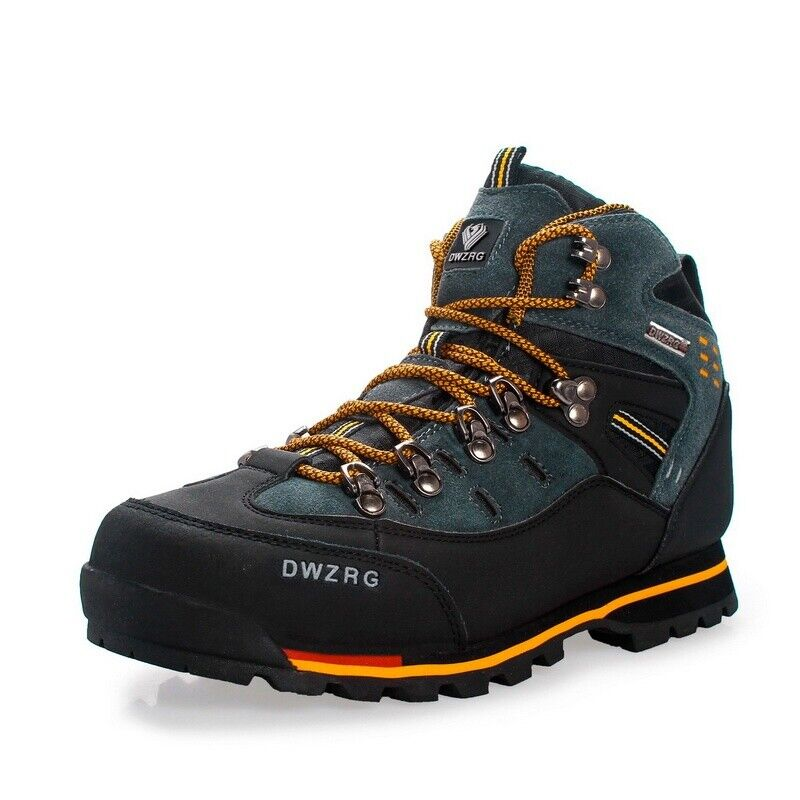 Mens Big Size Waterproof Trail Hiking Boots Athletic Antiskid Walk Outdoor shoes