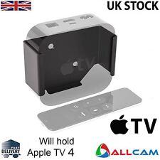 Premium Apple TV 4 Mount Black Bracket Holder - Out of sight Behind the TV Mount
