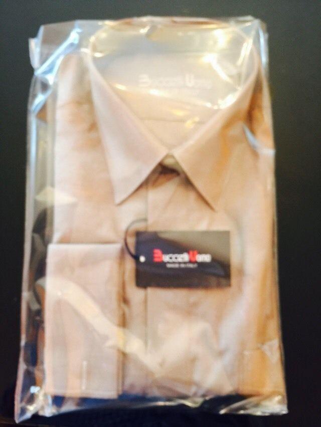 NIP BUCCELLI UOMO 100% Cotton Taupe Button Down Shirt SZ 41/16