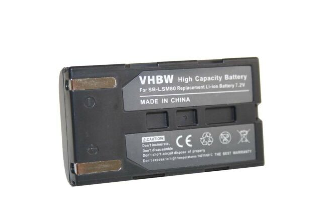 original vhbw® AKKU für SAMSUNG VP-D371 D371W VP-D 371 371W W