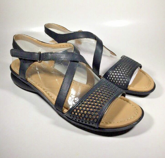Naturalizer Womens Valerie Black Wedge Sandals Shoes 10.5