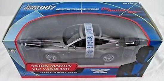 1/18 Beanstalk 007 James Bond Aston Martin V12 Vanquish todos los aparatos funcionan sin Usar, En Caja
