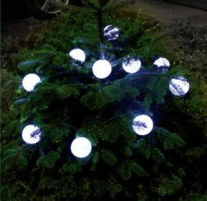 outdoor lighting balls. Image Is Loading Solar-Powered-10-White-Balls-String-Fairy-Lights- Outdoor Lighting Balls A