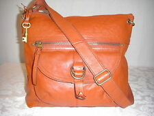 FOSSIL Sasha Large  BRICK  Leather Crossbody Shoulder  Bag