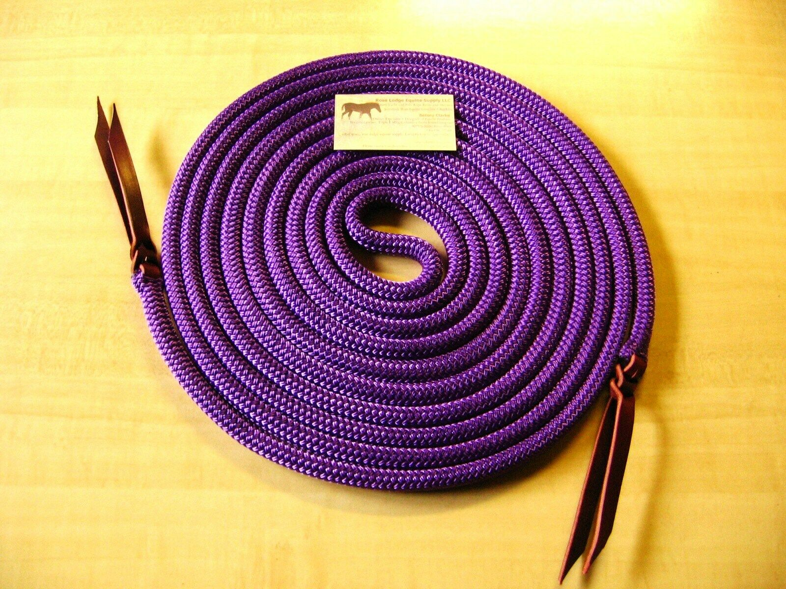 22' PURPLE Yacht Rope Mecate Reins 1  2 , 4 Slobber Straps or Bosal USA Quality  order online
