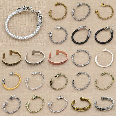 Adjustable Viking Cuff Bangle Multicolor Bracelet Mens Jewellery Charm Gift 1x