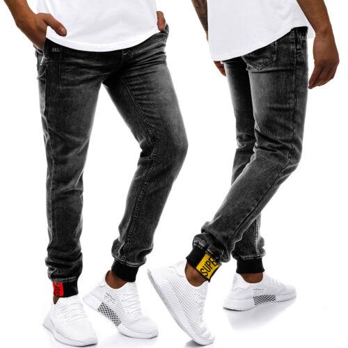 Pantalons Jean Skinny Straight joggerhose Pantalon Clubwear Messieurs OZONEE rf//hy555
