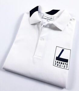 newest 437ee 765b3 Details zu Lacoste Polo Shirt Men's Slim Fit White FRA-27 Stretch Pique  PH936200-522