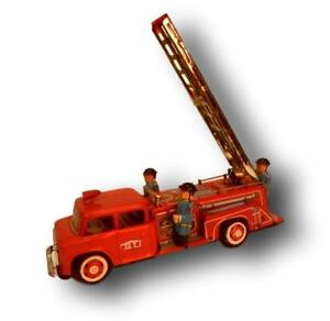 Fire truck macchina vigili del fuoco frizione sti anni 50 con scatola originale