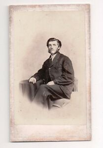 Vintage-CDV-Unknown-Man-Civil-War-Era-H-H-Harris-Meadville-PA