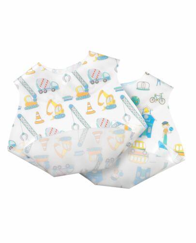 Nuby Baby Converter Scoop /& Flat Bib Boys /& Girls Waterproof /& Easy Clean