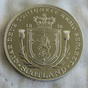 SCOTLAND-WILLIAM-IIII-1830-PEWTER-PROOF-PATTERN-CROWN