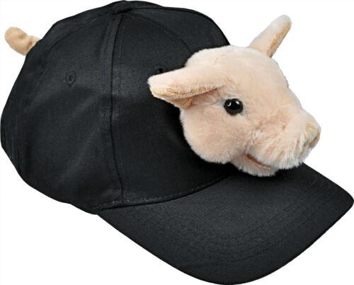 Cap Baseball Caps mit Plueschkopf Schweinchen Kappe m Plueschtier Schwein 69987